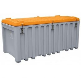 Szerszámtároló láda 750 L PE Szürke / Narancssárga színben